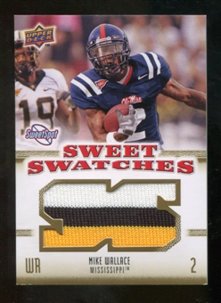 2010 Upper Deck Sweet Spot Sweet Swatches #SSW63 Mike Wallace