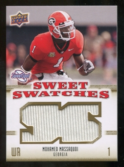 2010 Upper Deck Sweet Spot Sweet Swatches #SSW64 Mohamed Massaquoi