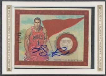 2008/09 Topps T51 Murad #T51ADR Derrick Rose Rookie Silver Auto #06/10