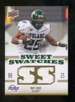 2010 Upper Deck Sweet Spot Sweet Swatches #SSW56 Matt Forte