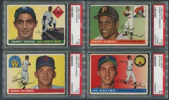 1955 Topps Baseball Complete Set (G-VG) With 21 Graded PSA Cards