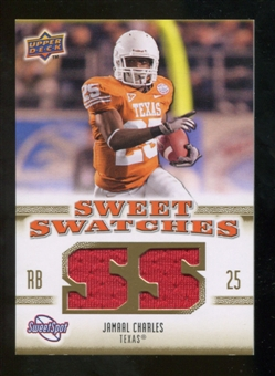 2010 Upper Deck Sweet Spot Sweet Swatches #SSW33 Jamaal Charles