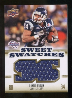 2010 Upper Deck Sweet Spot Sweet Swatches #SSW20 Donald Brown