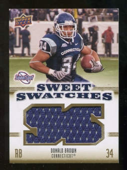 2010 Upper Deck Sweet Spot Sweet Swatches #SSW21 Donald Brown