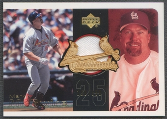 2002 Upper Deck #UDCMM Mark McGwire Employee Game Jersey Bat #108/350