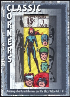 2012 Upper Deck Marvel Premier Classic Corners #CC21 Amazing Adventures/ Inhumans and The Black Widow #1 D
