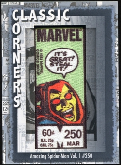2012 Upper Deck Marvel Premier Classic Corners #CC27 The Amazing Spider-Man #250 B