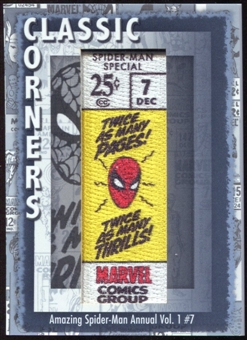 2012 Upper Deck Marvel Premier Classic Corners #CC31 Amazing Spider-Man Annual (vol. 1) #7 D