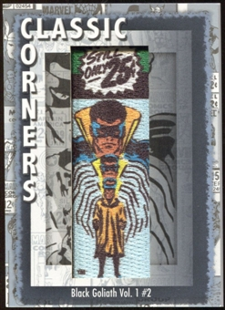 2012 Upper Deck Marvel Premier Classic Corners #CC37 Black Goliath #2 B
