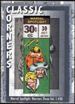 2012 Upper Deck Marvel Premier Classic Corners #CC49 Marvel Spotlight: Warriors Three B
