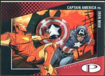 2012 Upper Deck Marvel Premier Shadowbox #S4 Captain America/Iron Man D