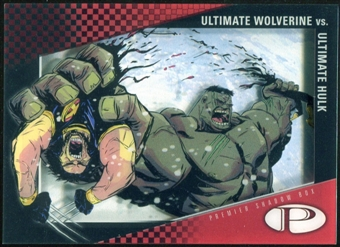 2012 Upper Deck Marvel Premier Shadowbox #S11 Ultimate Wolverine/Ultimate Hulk A