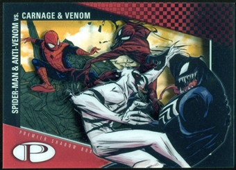 2012 Upper Deck Marvel Premier Shadowbox #S14 Venom/Spider-Man/ Carnage/Anti-Venom C