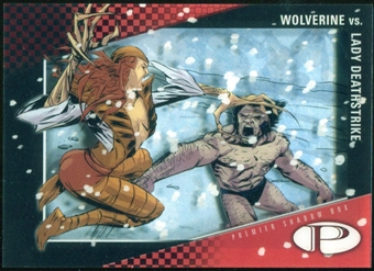 2012 Upper Deck Marvel Premier Shadowbox #S17 Wolverine/Lady Deathstrike D