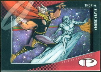 2012 Upper Deck Marvel Premier Shadowbox #S18 Silver Surfer/Thor D