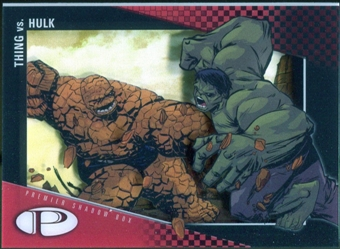 2012 Upper Deck Marvel Premier Shadowbox #S22 Thing/Hulk D