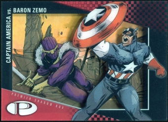 2012 Upper Deck Marvel Premier Shadowbox #S23 Captain America/Baron Zemo C