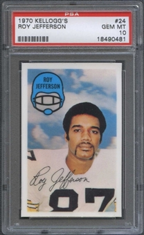 1970 Kellogg's Football #24 Roy Jefferson PSA 10 (GEM MT) *0481