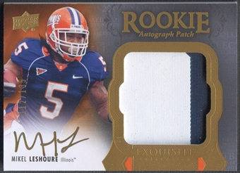2011 Exquisite Collection #135 Mikel Leshoure Rookie Patch Auto #112/135