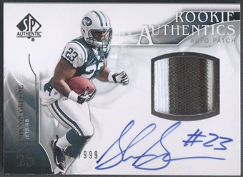 2009 SP Authentic #401 Shonn Greene Rookie Patch Auto #105/999