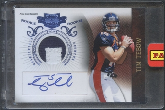 2010 Panini Plates and Patches #234 Tim Tebow Rookie Patch Auto #11/25