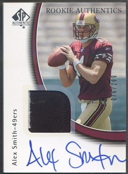 2005 SP Authentic #248 Alex Smith Rookie Patch Auto #076/299