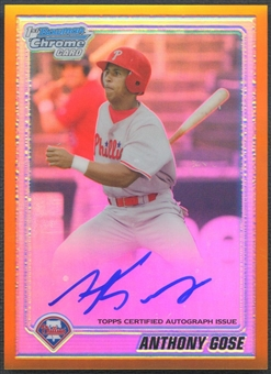 2010 Bowman Chrome Prospects #BCP104 Anthony Gose Gold Refractor Rookie Auto #15/50