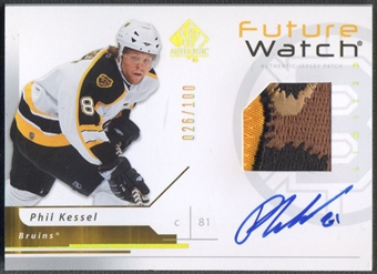 2006/07 SP Authentic #163 Phil Kessel Rookie Limited Patch Auto #026/100