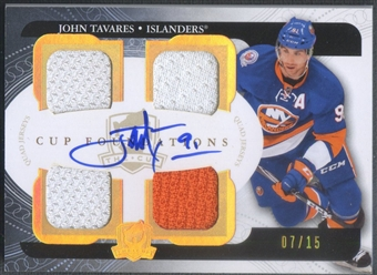 2011/12 The Cup #CFJT John Tavares Cup Foundations Jersey Auto #07/15