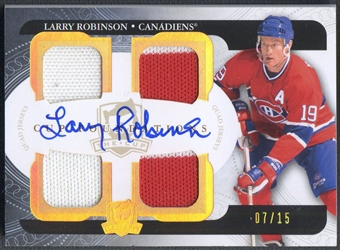 2011/12 The Cup #CFLR Larry Robinson Cup Foundations Jersey Auto #07/15