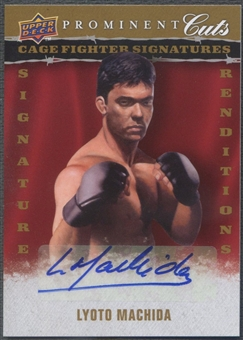 2009 Upper Deck Prominent Cuts #CFSRLM Lyoto Machida Cage Fighter Signature Renditions Auto