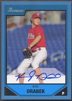2007 Bowman Prospects #BP111 Kyle Drabek Blue Rookie Auto #463/500
