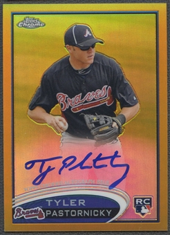 2012 Topps Chrome #183 Tyler Pastornicky Gold Refractor Rookie Auto #23/50