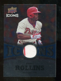 2009 Upper Deck Icons Icons Jerseys #JR Jimmy Rollins