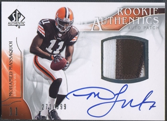 2009 SP Authentic #392 Mohamed Massaquoi Rookie Patch Auto #271/999