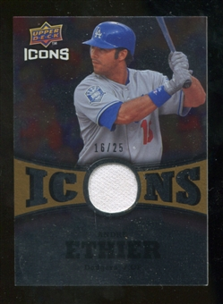2009 Upper Deck Icons Icons Jerseys Gold #AE Andre Ethier /25