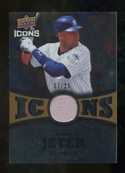 2009 Upper Deck Icons Icons Jerseys Gold #DJ Derek Jeter 7/25