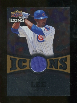 2009 Upper Deck Icons Icons Jerseys Gold #DL Derrek Lee /25