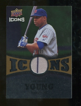 2009 Upper Deck Icons Icons Jerseys Gold #DY Delmon Young /25