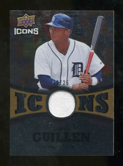 2009 Upper Deck Icons Icons Jerseys Gold #GU Carlos Guillen /25
