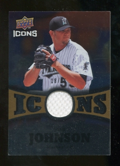 2009 Upper Deck Icons Icons Jerseys Gold #JJ Josh Johnson /25
