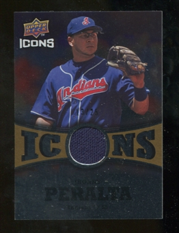 2009 Upper Deck Icons Icons Jerseys Gold #PE Jhonny Peralta /25