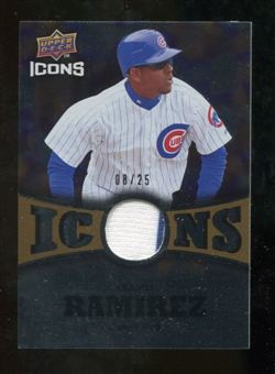 2009 Upper Deck Icons Icons Jerseys Gold #RA Aramis Ramirez /25