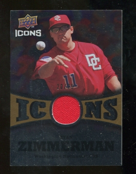 2009 Upper Deck Icons Icons Jerseys Gold #RZ Ryan Zimmerman /25