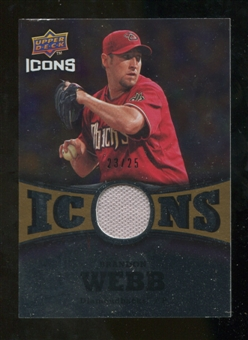 2009 Upper Deck Icons Icons Jerseys Gold #WB Brandon Webb /25