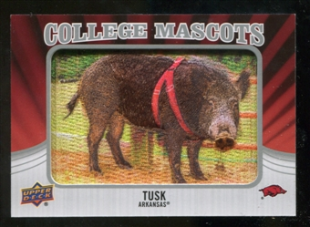 2012 Upper Deck College Mascot Manufactured Patch #CM4 Tusk A