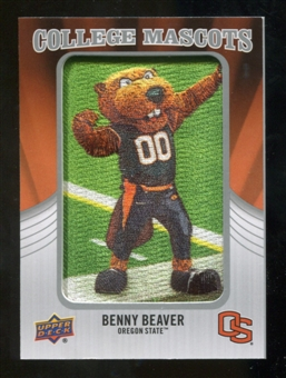 2012 Upper Deck College Mascot Manufactured Patch #CM39 Benny Beaver C