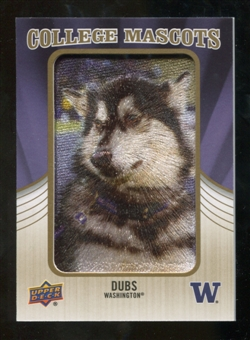 2013 Upper Deck College Mascot Manufactured Patch #CM63 Dubs D