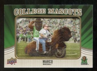 2013 Upper Deck College Mascot Manufactured Patch #CM73 Marco D