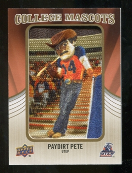 2013 Upper Deck College Mascot Manufactured Patch #CM75 Paydirt Pete D